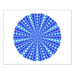 Blue Pattern 001 Small Poster