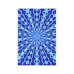 Blue Pattern 001 Rectangle Magnet (100 pack)