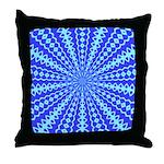 Blue Pattern 001 Throw Pillow