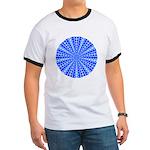 Blue Pattern 001 Ringer T