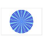 Blue Pattern 001 Large Poster