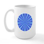 Blue Pattern 001 Large Mug