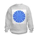 Blue Pattern 001 Kids Sweatshirt
