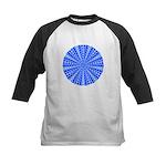 Blue Pattern 001 Kids Baseball Jersey