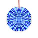 Blue Pattern 001 Ornament (Round)