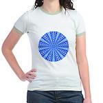 Blue Pattern 001 Jr. Ringer T-Shirt