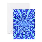 Blue Pattern 001 Greeting Card