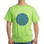 Blue Pattern 001 Green T-Shirt