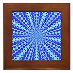 Blue Pattern 001 Framed Tile