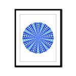 Blue Pattern 001 Framed Panel Print