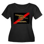 TANSTAAFL Women's Plus Size Scoop Neck Dark T-Shir