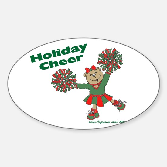 Holiday Cheer Oval Decal