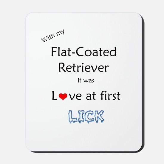 Flat-Coat Lick Mousepad