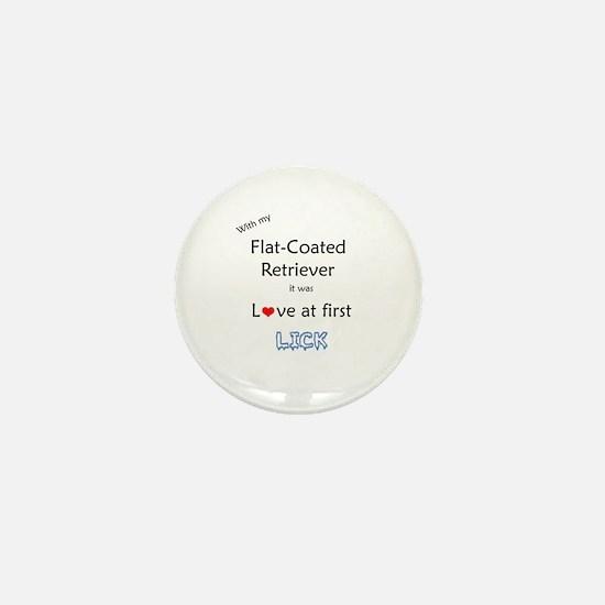 Flat-Coat Lick Mini Button