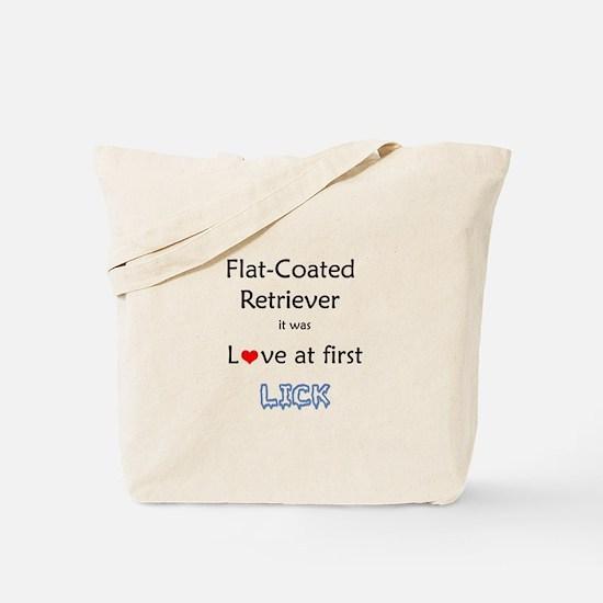 Flat-Coat Lick Tote Bag
