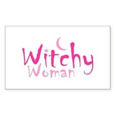 Witchy Woman Rectangle Sticker