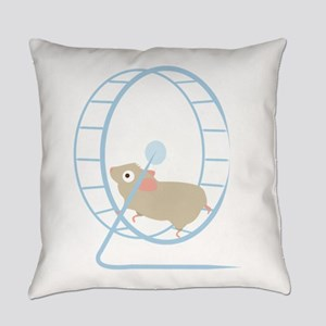 Hamster Wheel Everyday Pillow