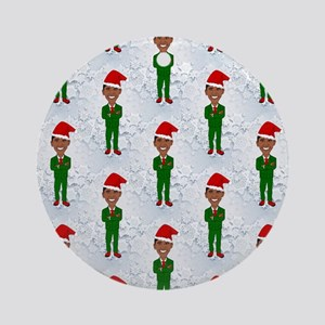 barack obama santa Round Ornament