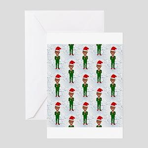 barack obama santa Greeting Cards