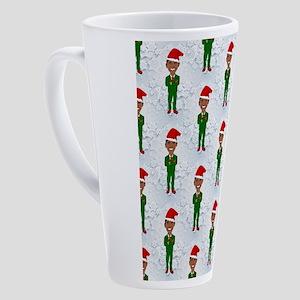 barack obama santa 17 oz Latte Mug