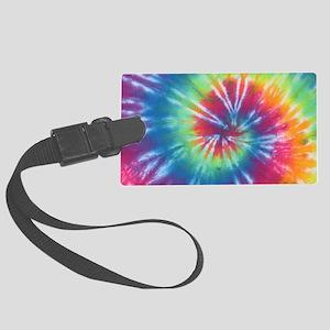 Rainbow Tie Dye Luggage Tag