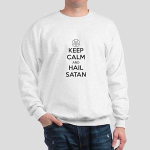 Keep Calm and Hail Satan Sweatshirt