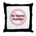 No Hablo Espanol - Red Circle Throw Pillow