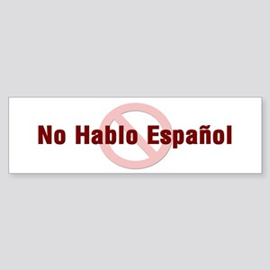 No Hablo Espanol - Red Circle Bumper Sticker