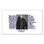 G. K. Chesterton Rectangle Sticker