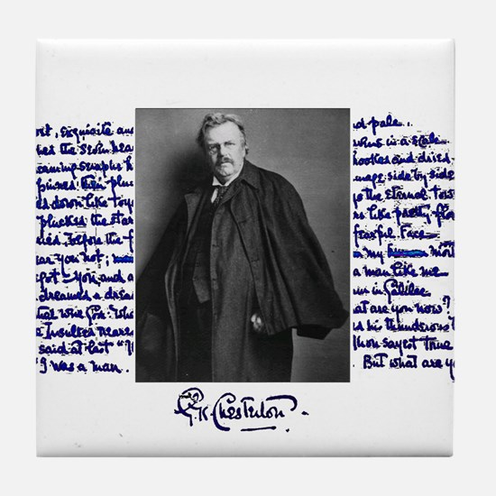 G. K. Chesterton Tile Coaster