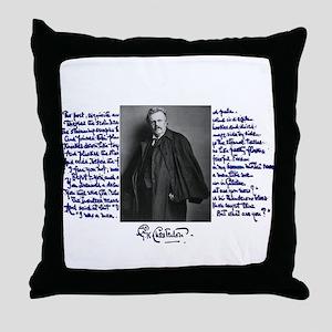 G. K. Chesterton Throw Pillow