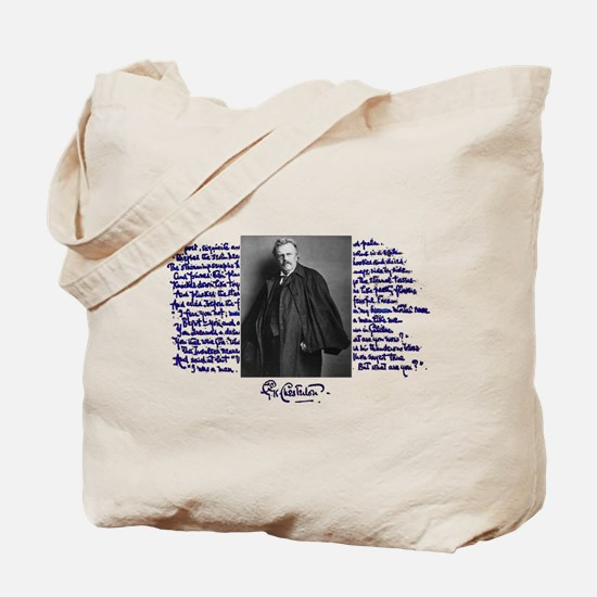G. K. Chesterton Tote Bag