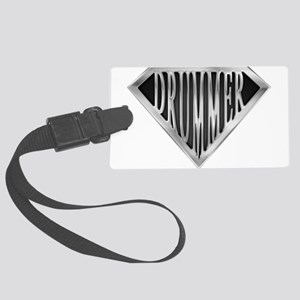 spr_drummer_chrm Large Luggage Tag