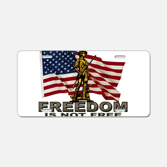 FREEDOM.png Aluminum License Plate