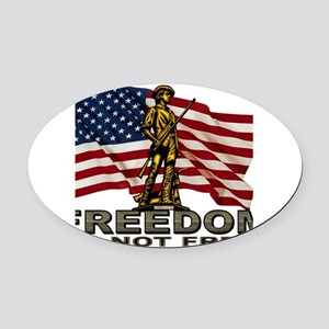 FREEDOM Oval Car Magnet