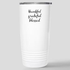 thankful grateful blessed Travel Mug