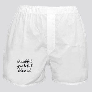 thankful grateful blessed Boxer Shorts