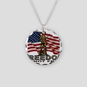 FREEDOM Necklace Circle Charm