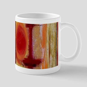 Abstract Earth Tone Mugs