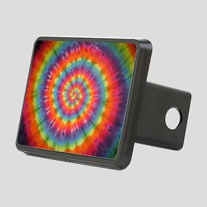 Tie Dye Rainbow Swirl Hitch Cover