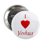 I Love Yeshua Button