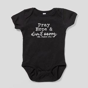 Pray Hope & Don't Worry dark background Body Suit