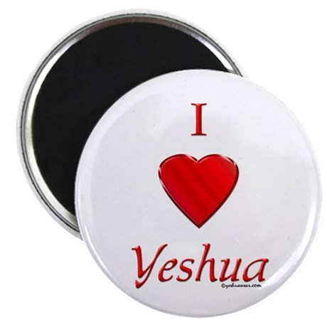 "I Love Yeshua 2.25"" Magnet (10 pack)"