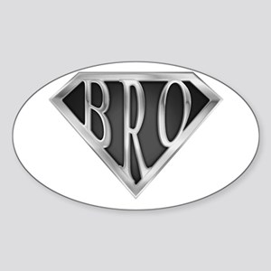 SuperBro-Metal Oval Sticker