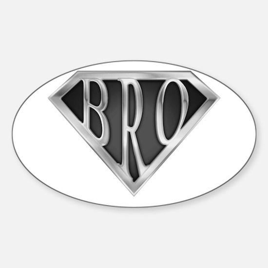 SuperBro-Metal Oval Decal