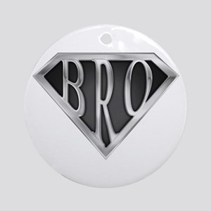SuperBro-Metal Ornament (Round)