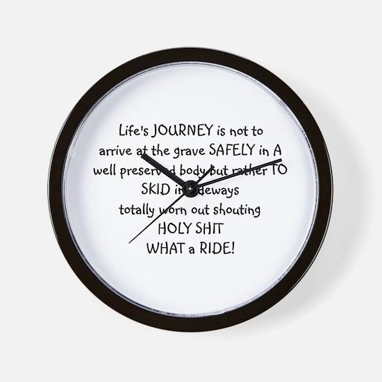 Life's journey Wall Clock