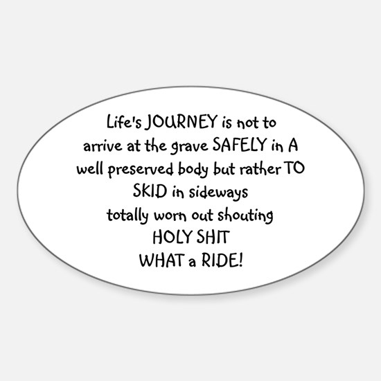Life's journey Oval Decal