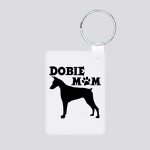 DOBIE MAMA (both sides) Aluminum Photo Keychain