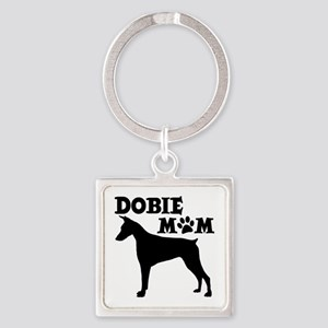 DOBIE MOM Square Keychain